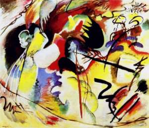 Picture With White Form - Kandinsky